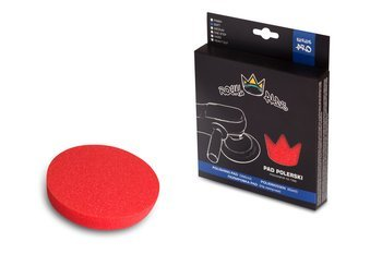 Royal Pads PRO Soft Pad Polishing 80mm czerwony miękki pad polerski